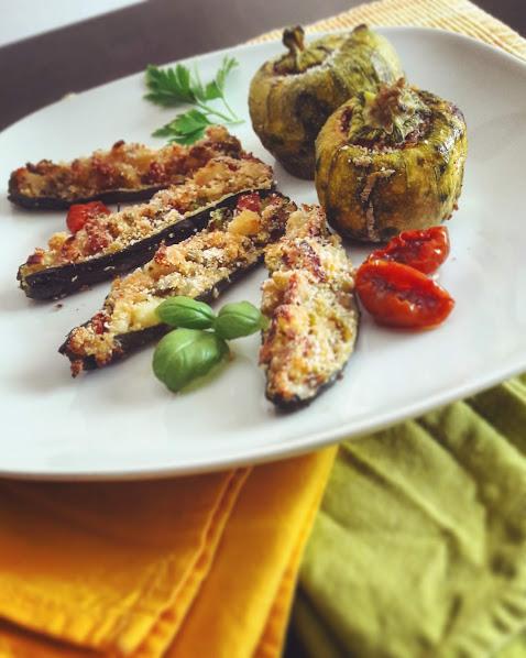 zucchine farcite; ricette estive con le zucchine