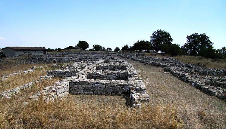 Sito archeologico nei pressi di Vaglio Lucano