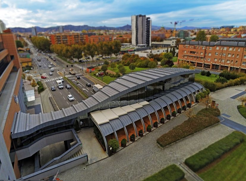 veduta esterna del istorante La Porta di Bologna